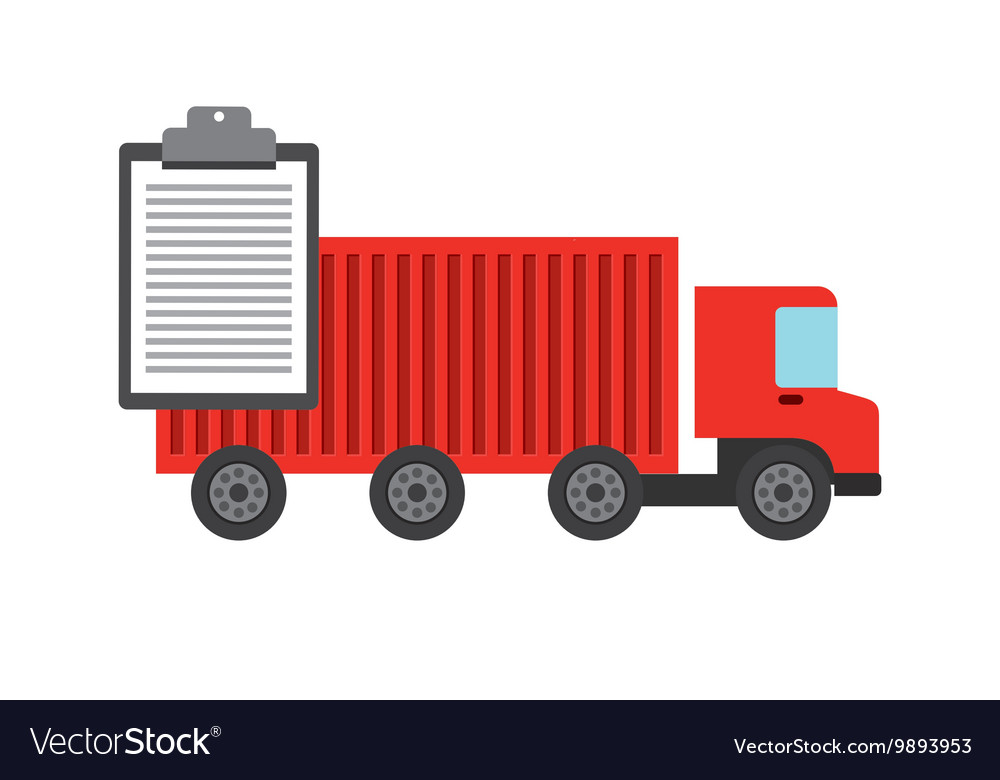 Truck icon Delivery and Shipping design vector image
