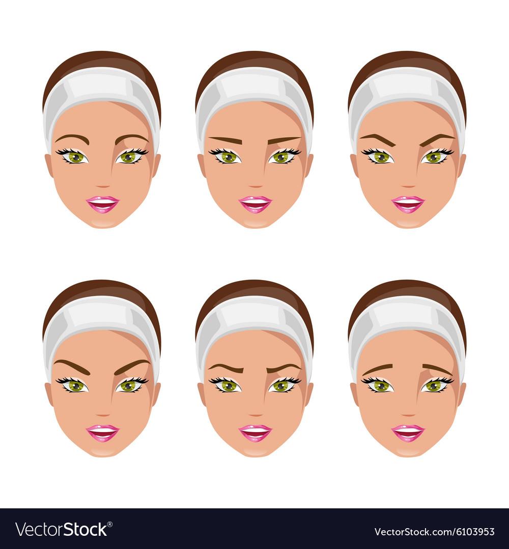 Type of eyebrows