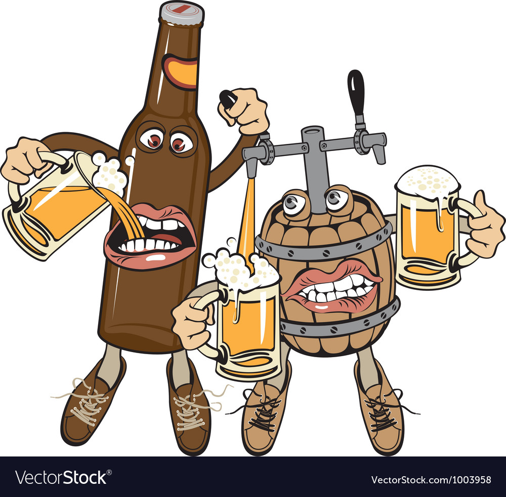 Alcoholics vector image