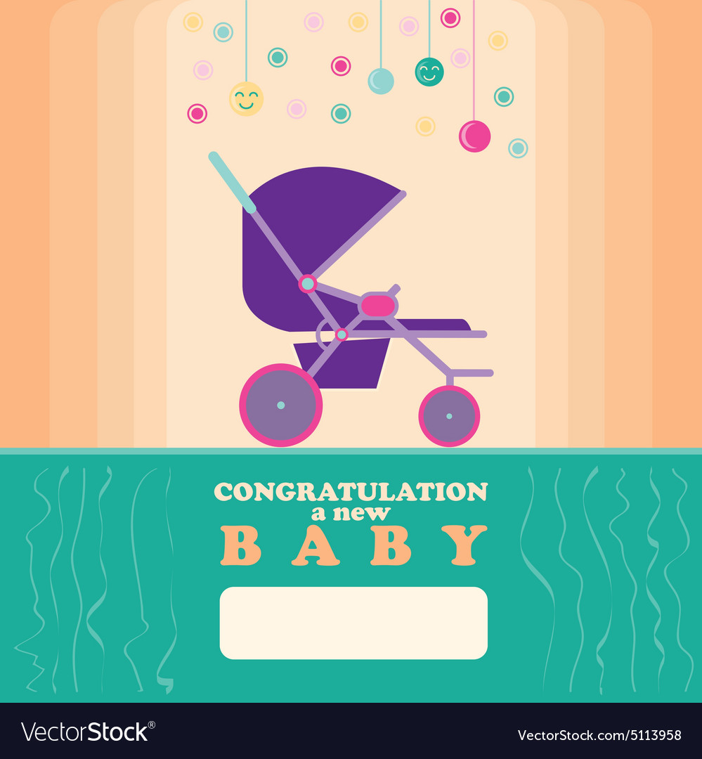 baby new born greeting card royalty free vector image