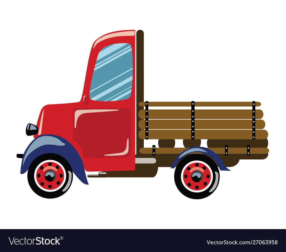 Cartoon retro truck a