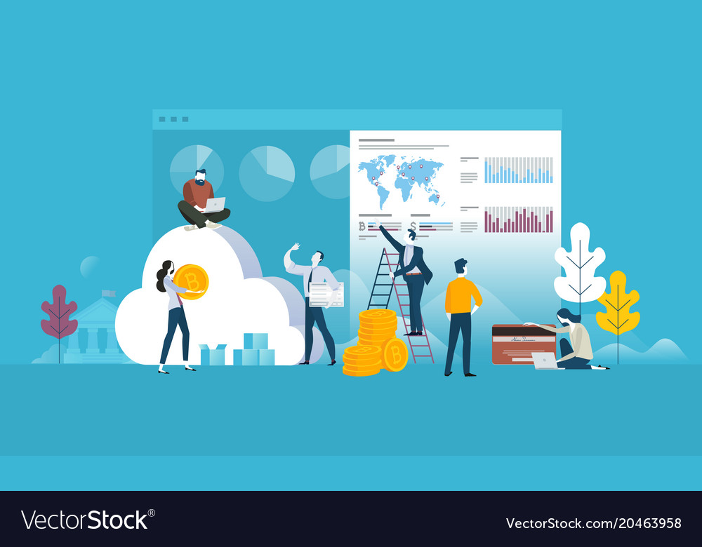 Cryptocurrency exchange vector image