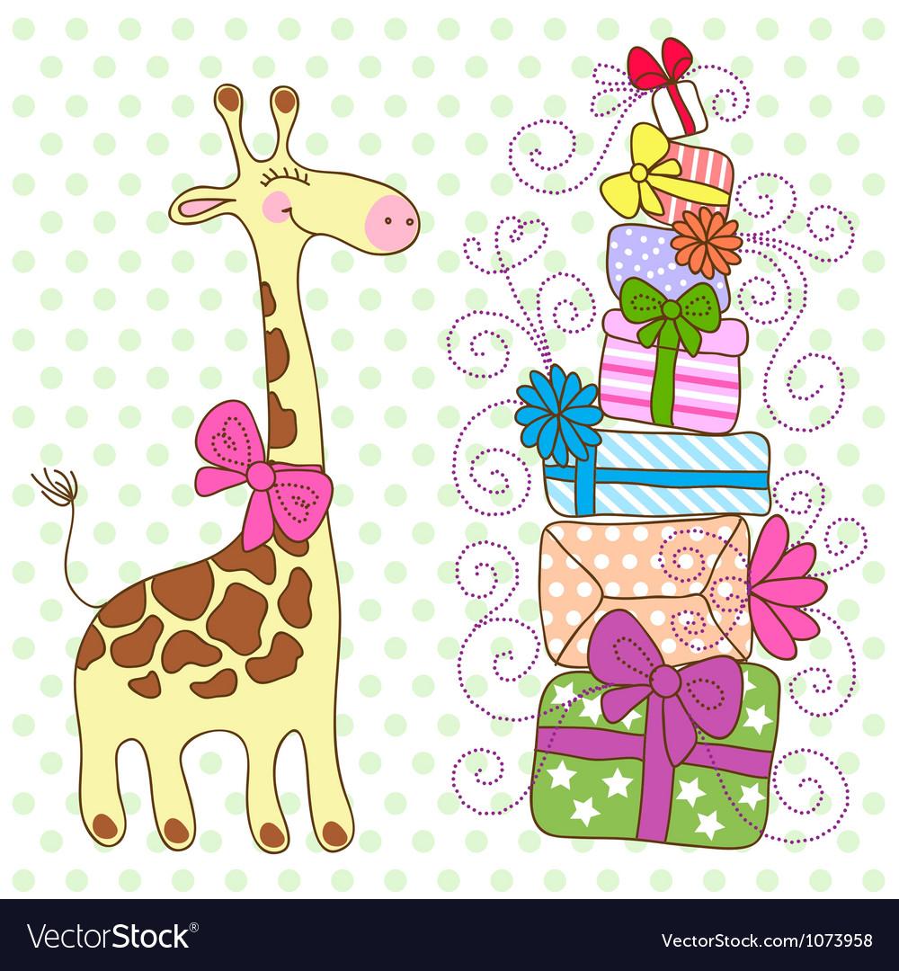 Для эдуарда, открытки с днем рождения жираф