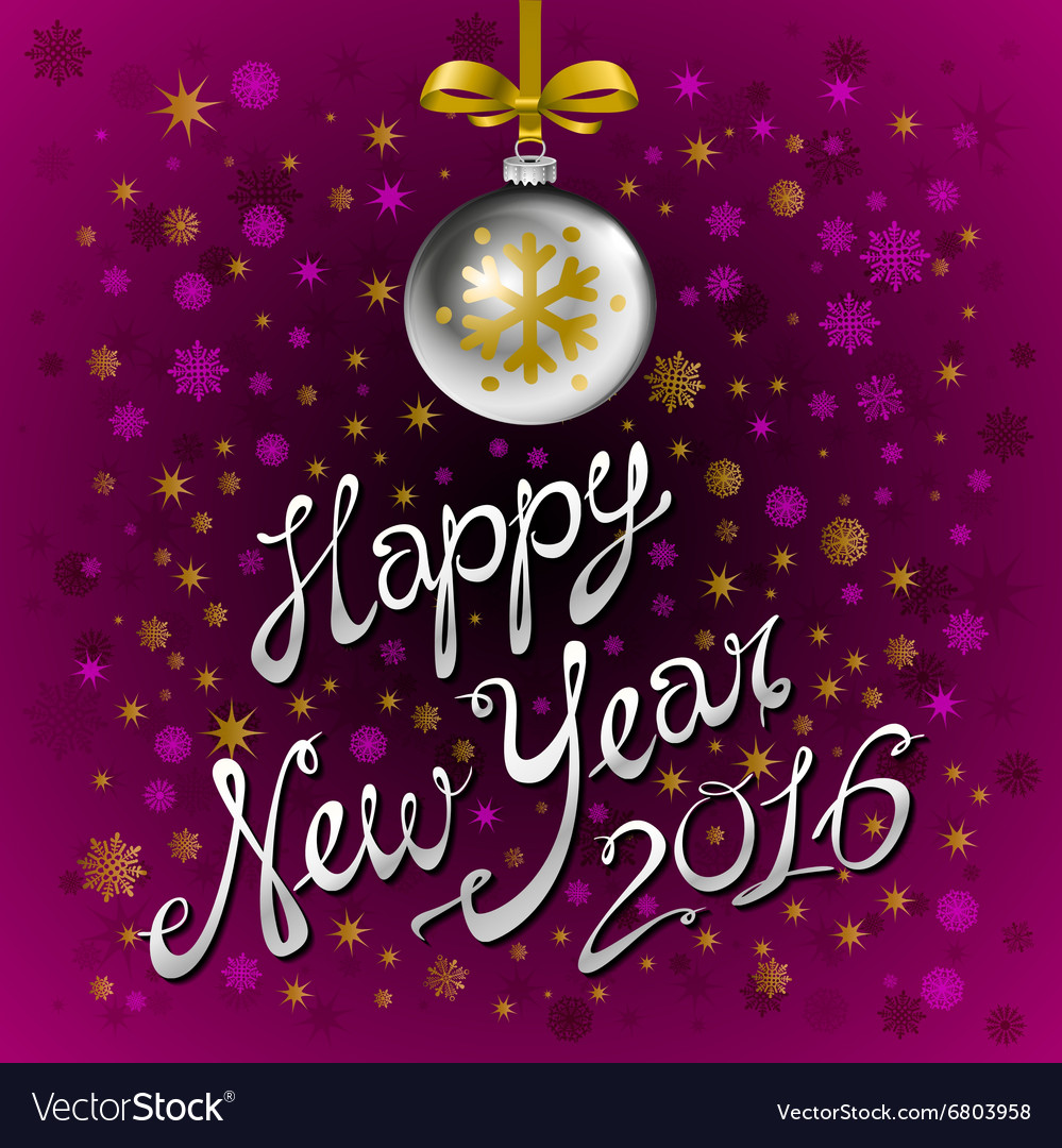 Happy New Year 2016 colorful greeting card with