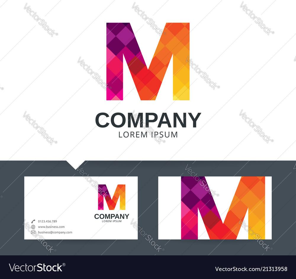 Letter m - logo design