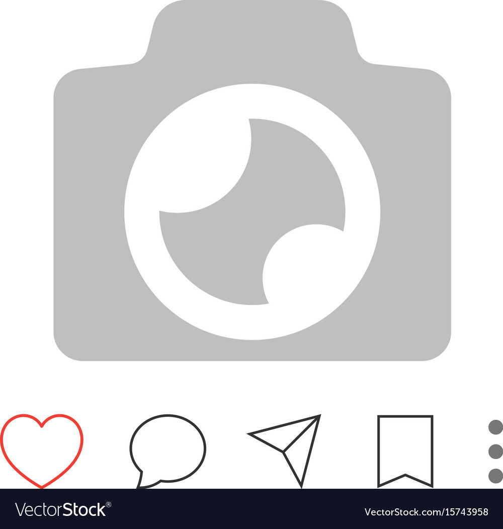 Mobile app interface pictograms