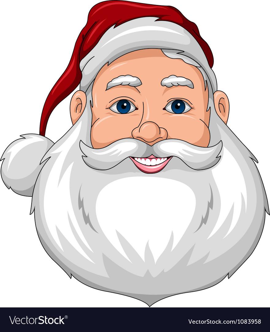 Santa Happy Face Front vector image