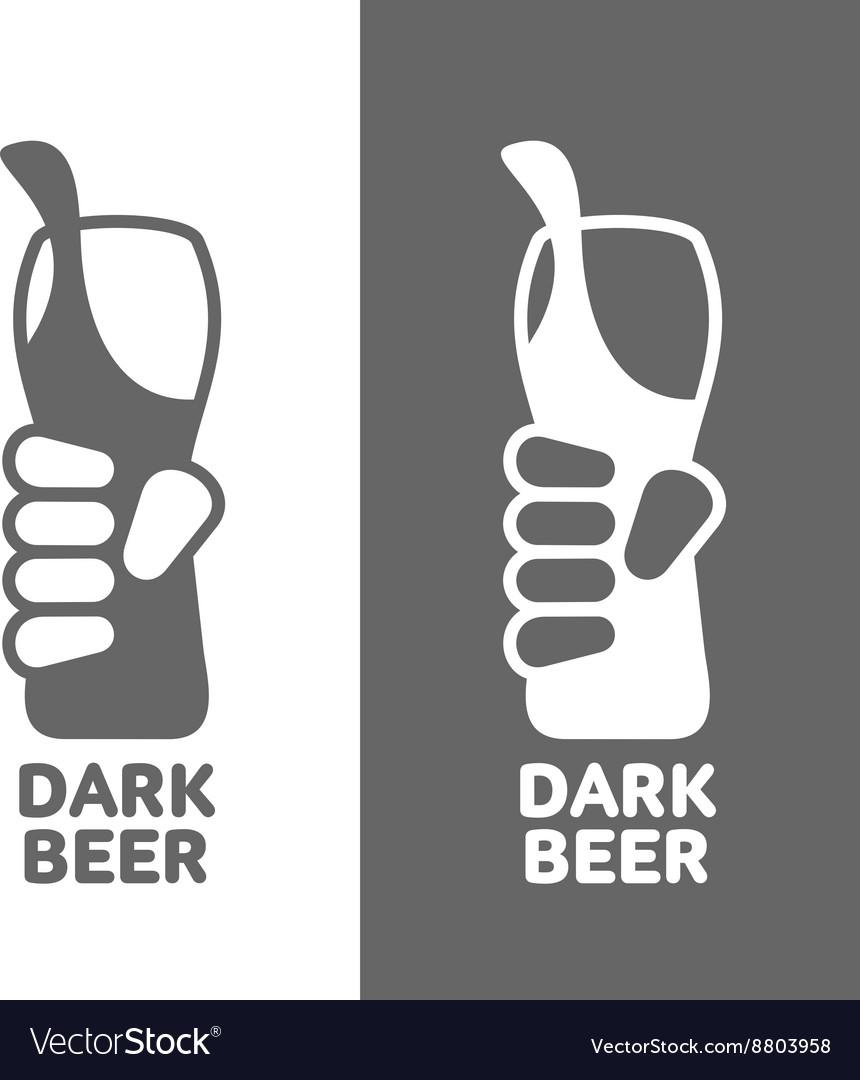 Set beer logos simple gray labels