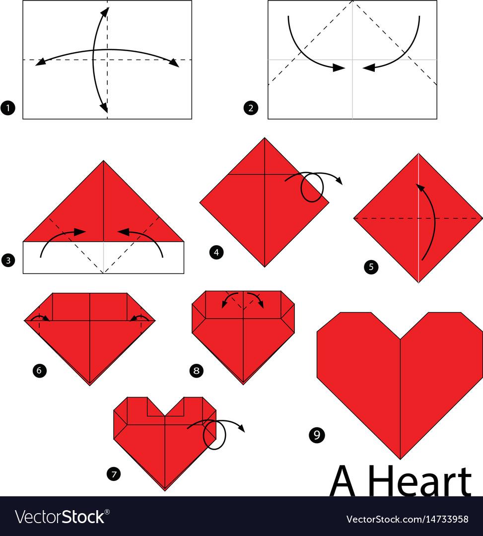 Origami Heart Present Box | Origami corazon, Diagramas de origami ... | 1080x973