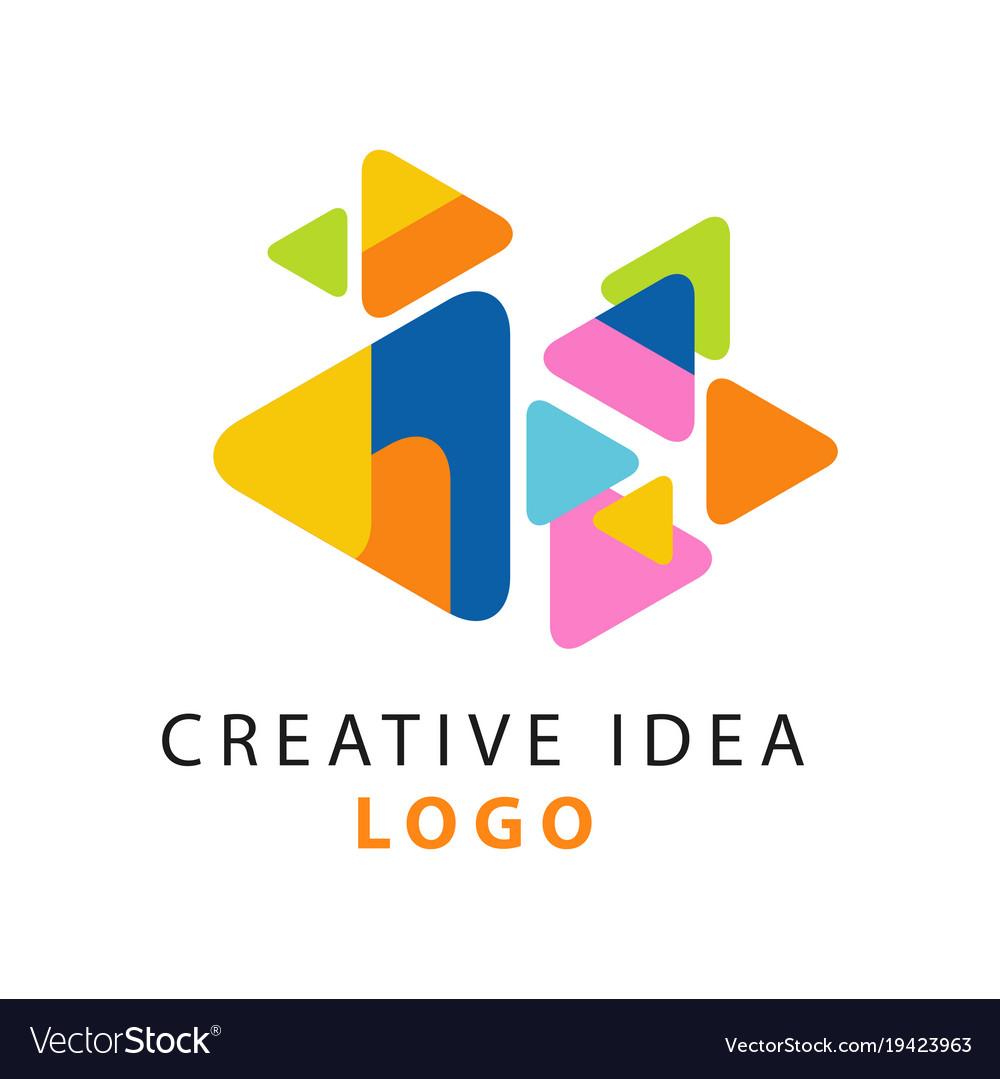 Abstract creative idea logo template educational