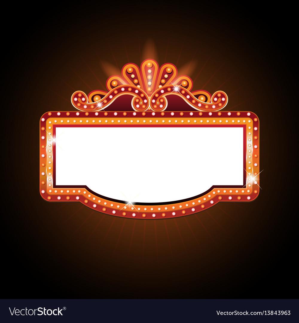 Brightly Theater Glowing Retro Cinema Neon Sign Vector Image
