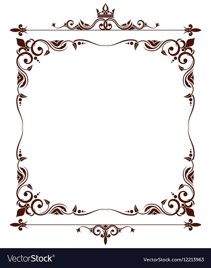 geraldic royal fleur de lys ornate frame vector image rh vectorstock com ornate frame vector free download ornate frame vector png