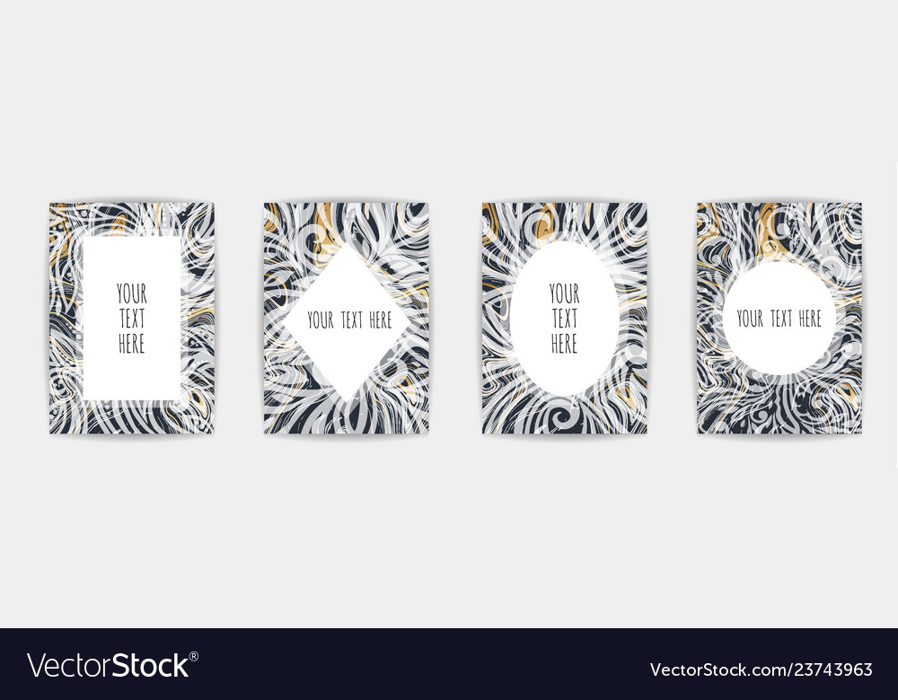 Gold black white marble template trendy pattern