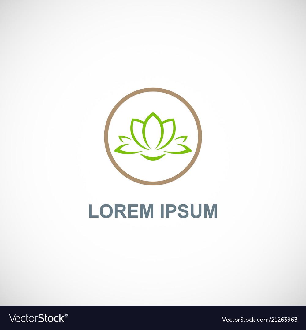 Lotus flower spa logo