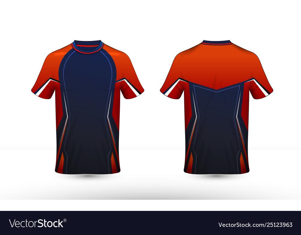 Orange blue and white layout e-sport t-shirt