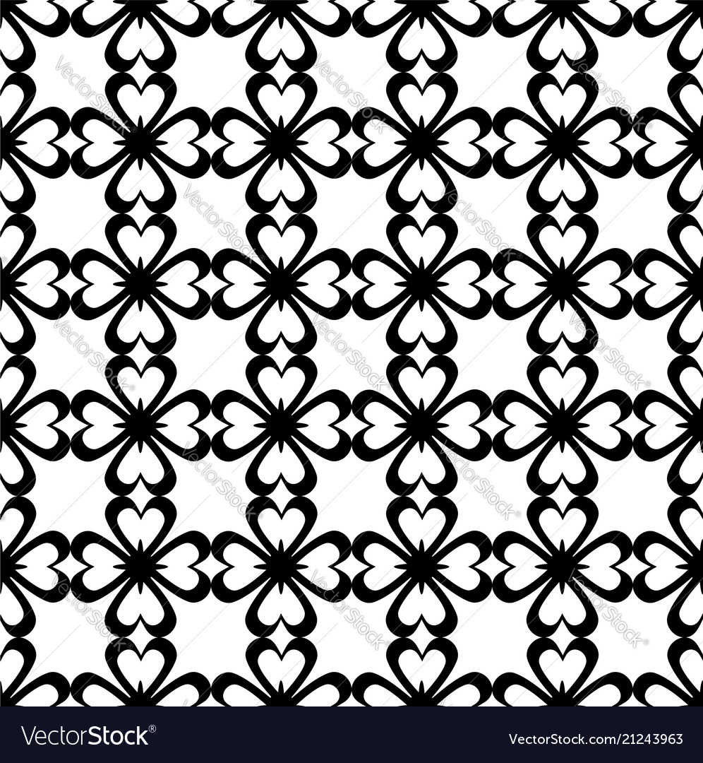 Seamless pattern black and white repeating love