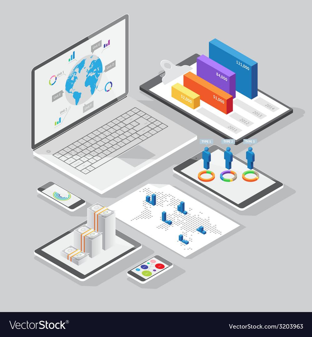 Set of infographics design elements vector image
