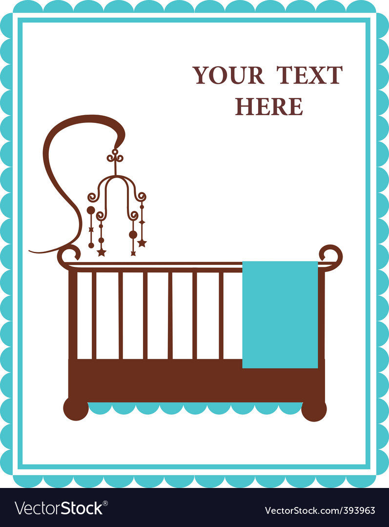 Vintage baby crib vector image