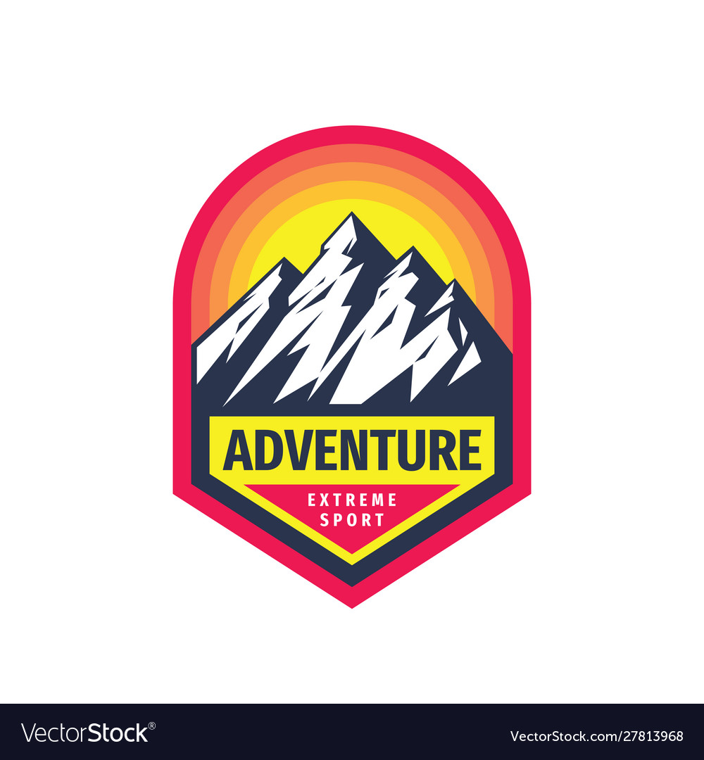 Adventure extreme sport - concept badge design
