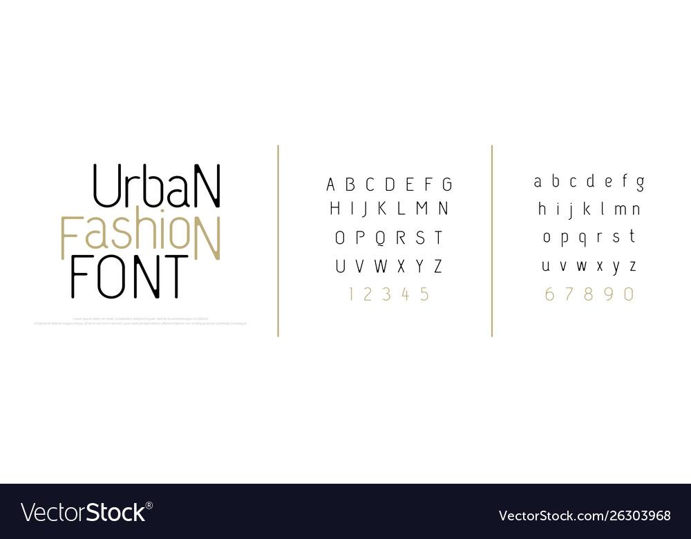 Elegant alphabet letters font classic custom