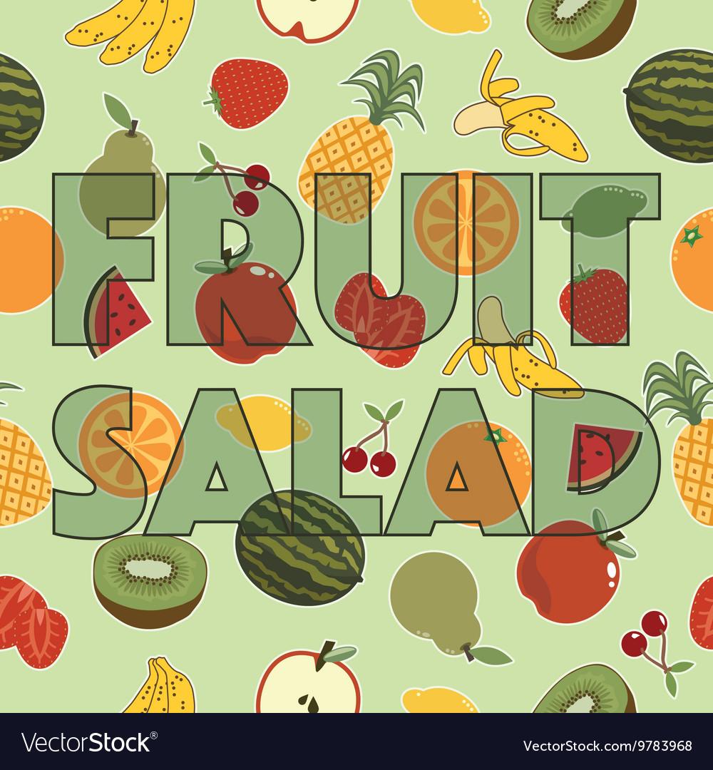 Fruit Salad Decoration Royalty Free Vector Image