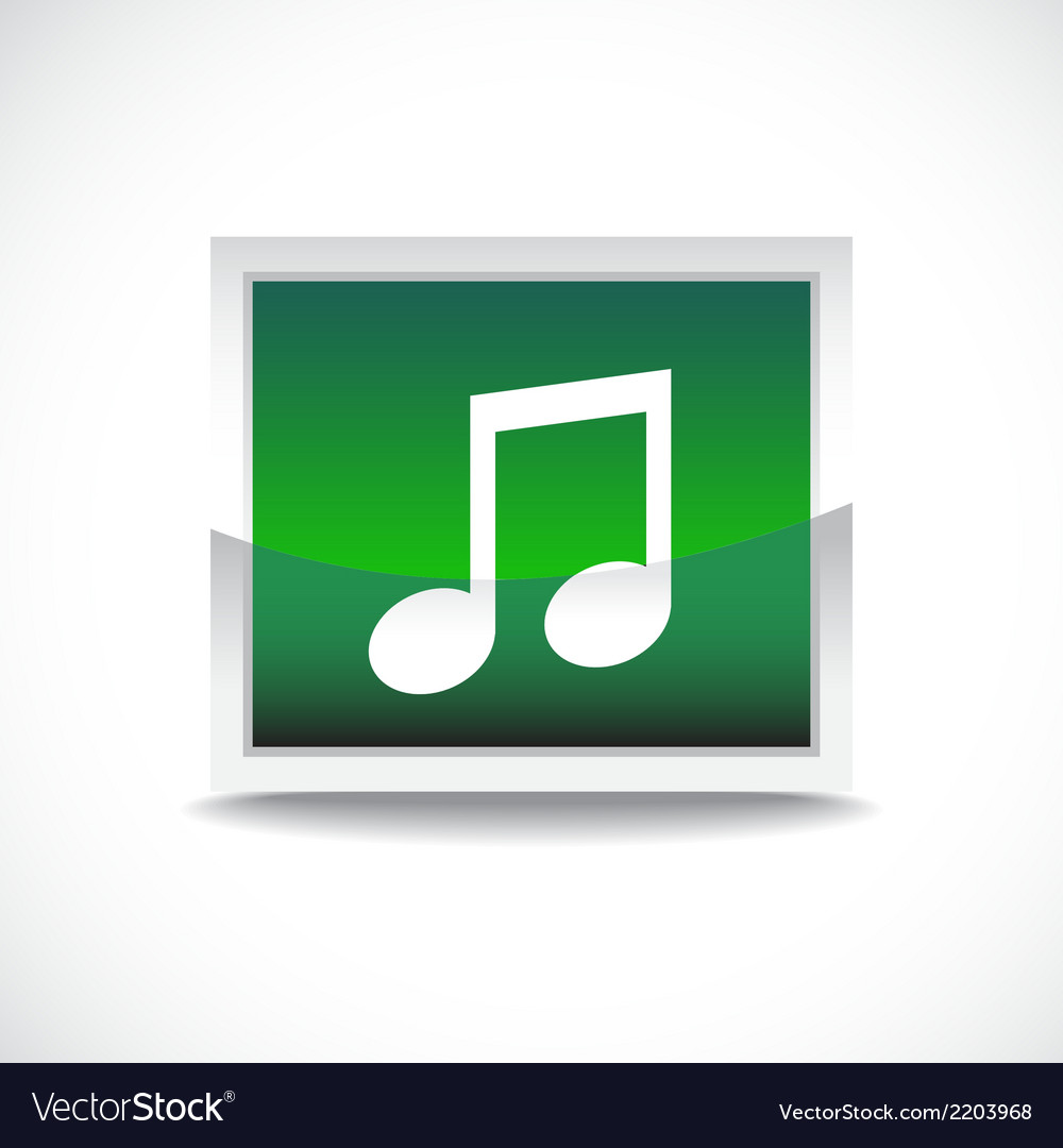 Music sign button