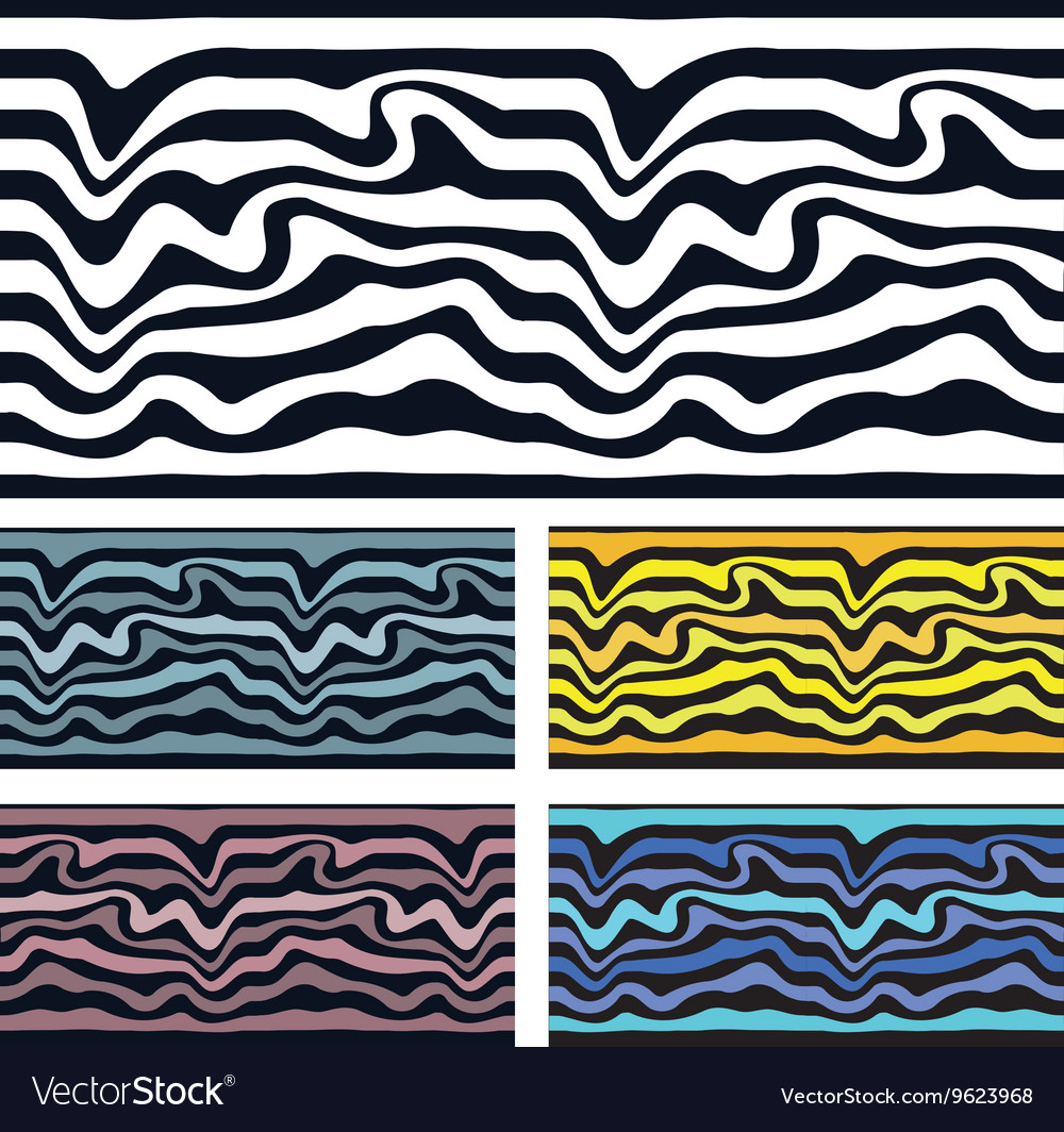Seamless pattern background Zebra and wave