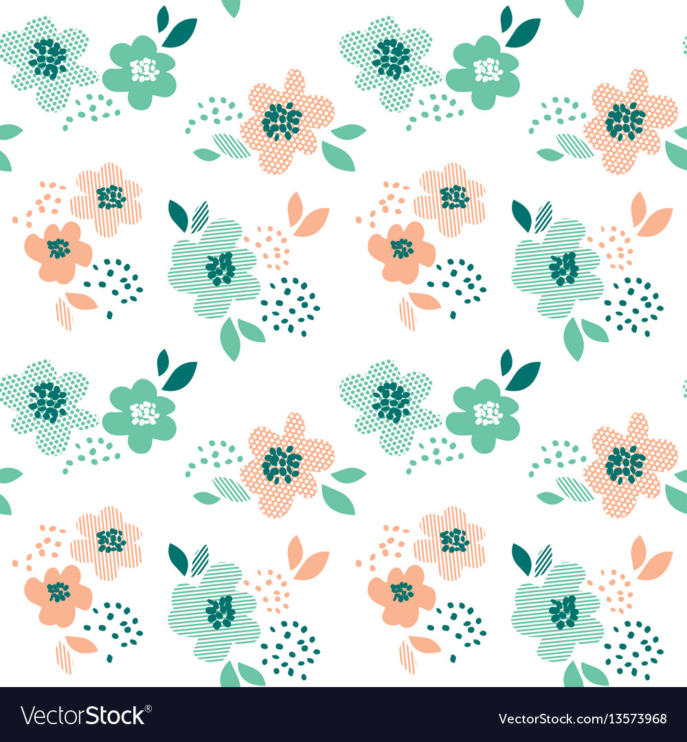 Simple pale color floral decorative seamless