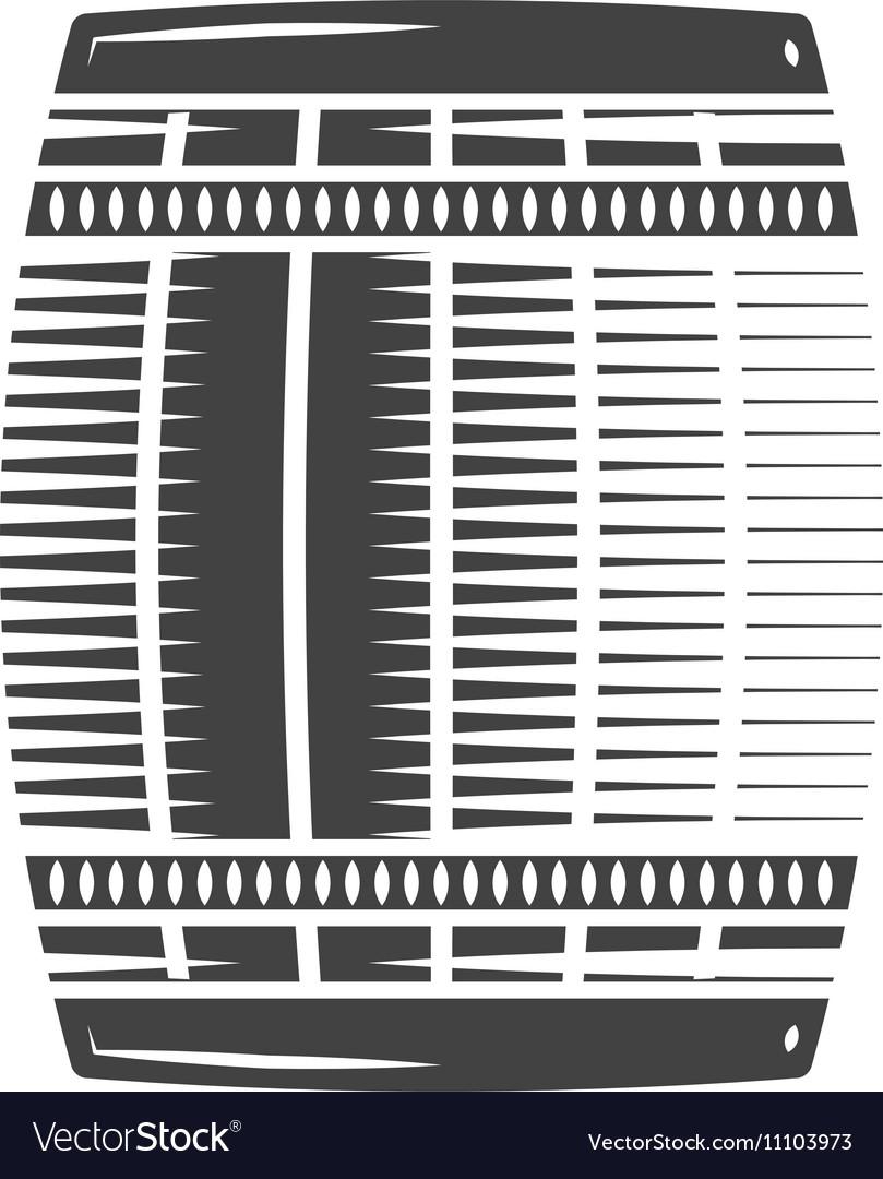 Barrel Black icon logo element flat isolated on vector image