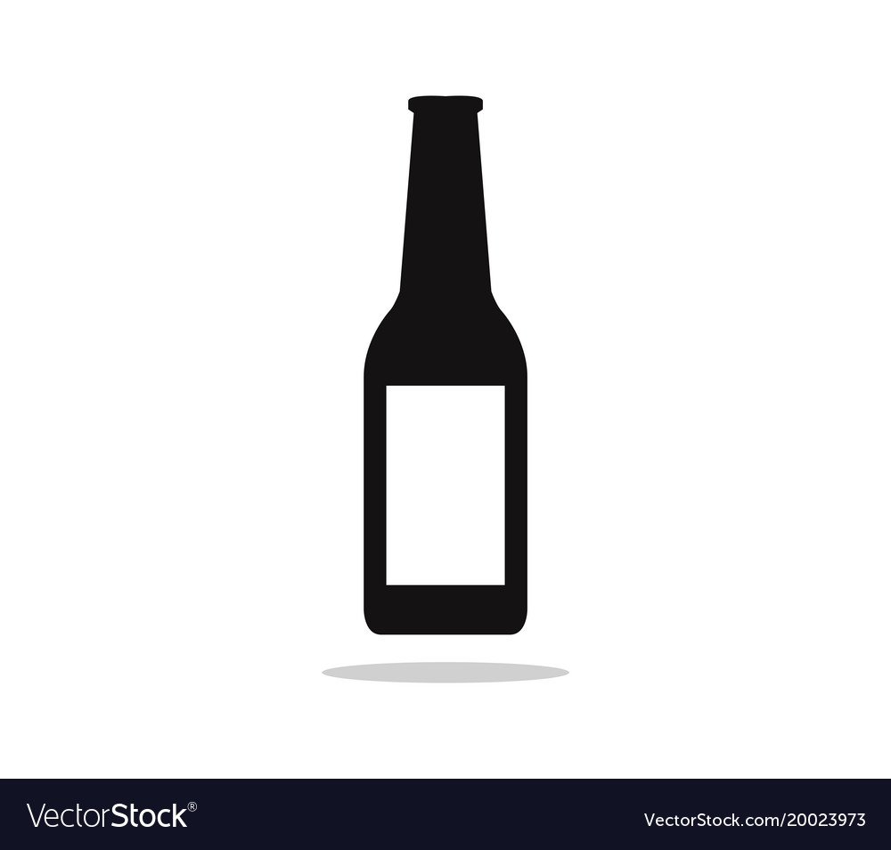 beer bottle icon royalty free vector image vectorstock rh vectorstock com vector beer bottle silhouette vector art beer bottle