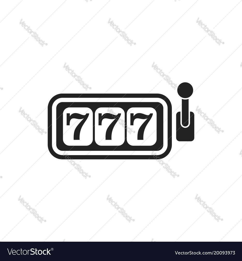 Casino slot machine flat icon 777 jackpot vector image