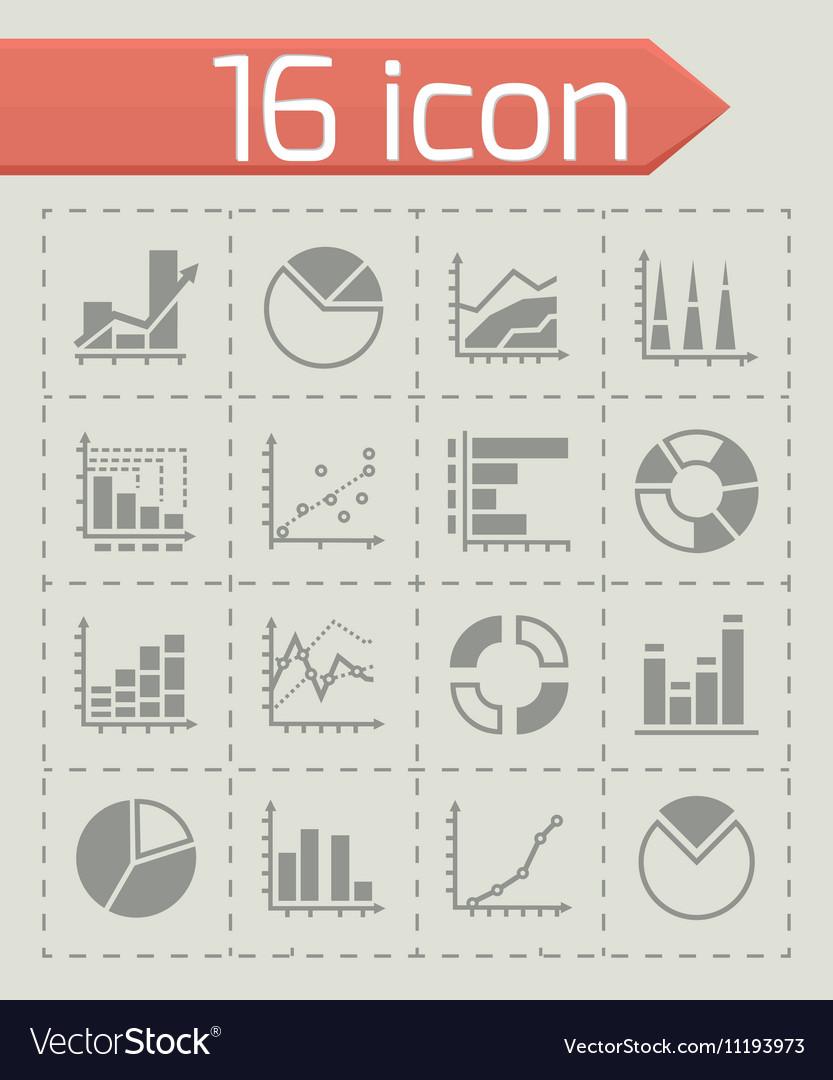 Diagrams icon set