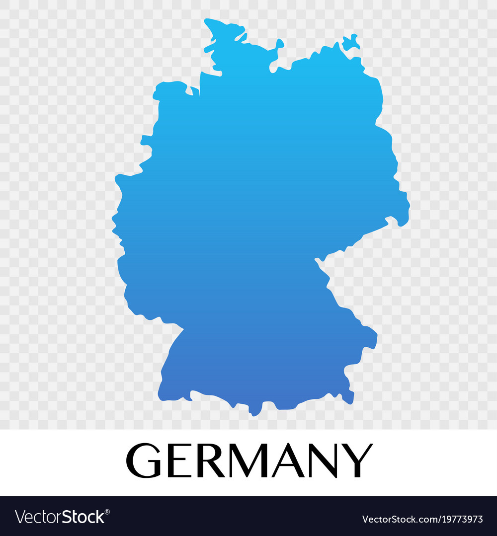Germany map in europe continent design