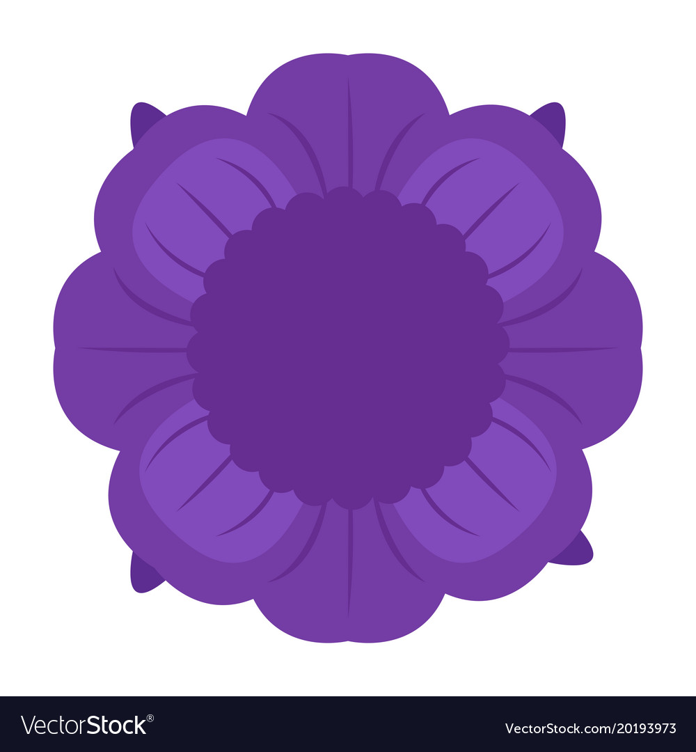 Isolated flower icon