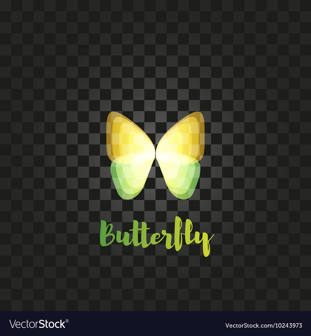 Isolated yellow butterfly logo Insects