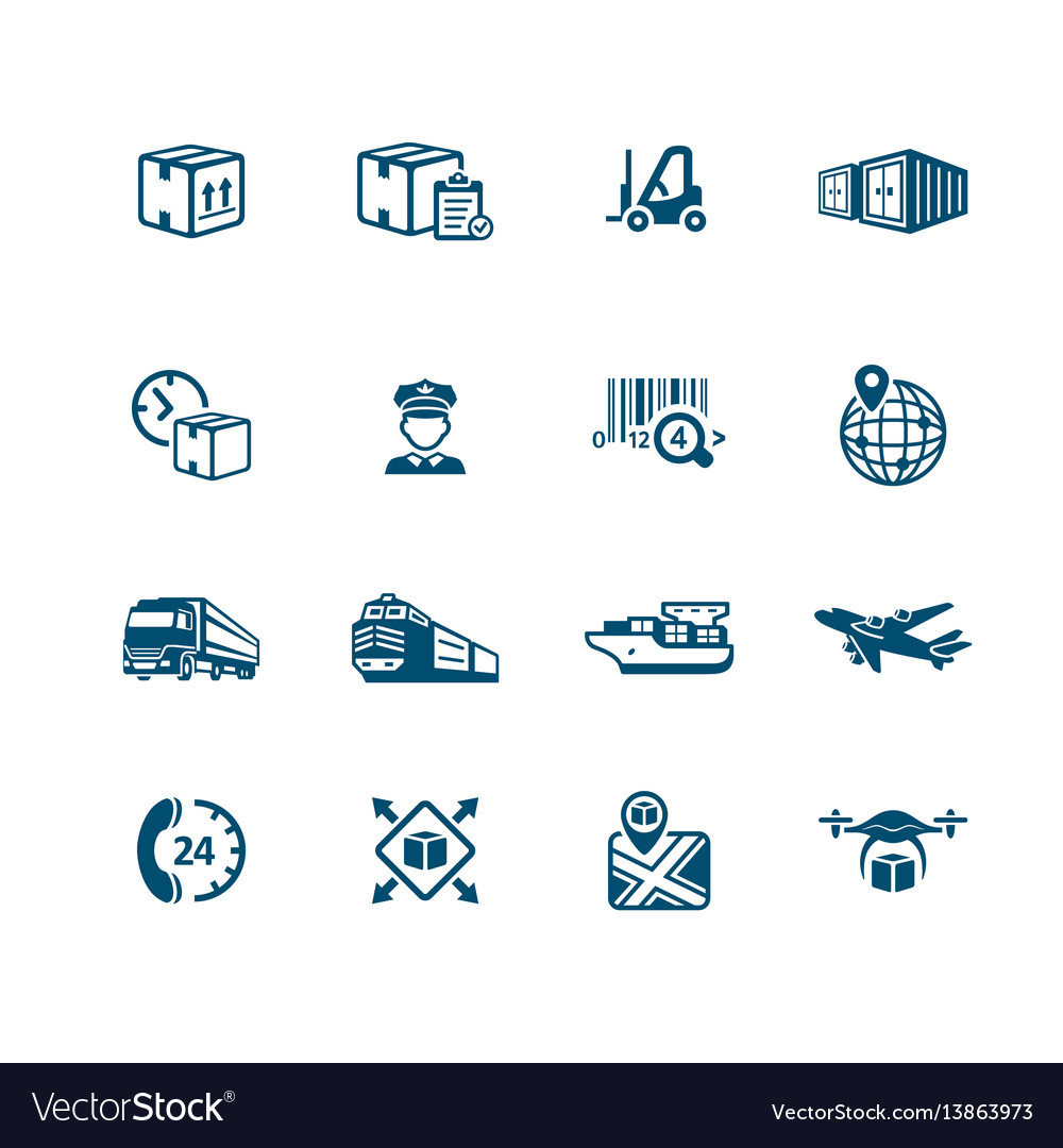 Logistics icons - micro series