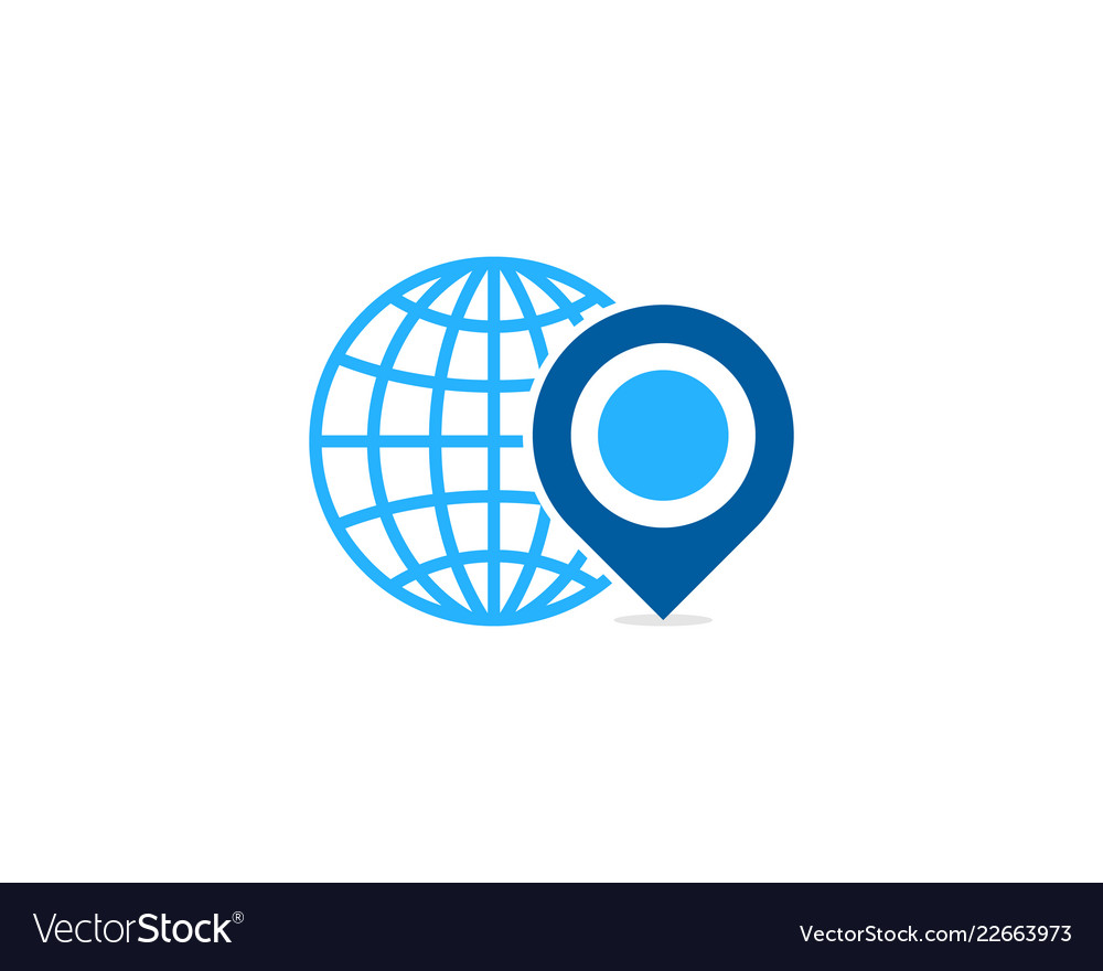 Point globe logo icon design