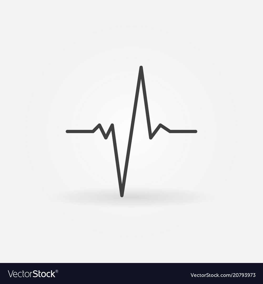 Pulse concept minimal icon in thin line