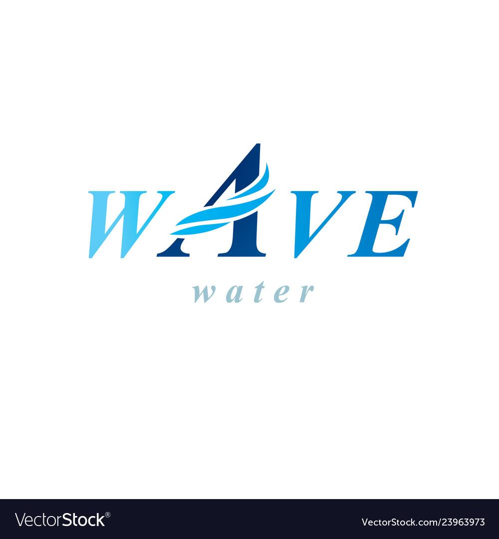 Pure aqua ecology logotype water day theme human