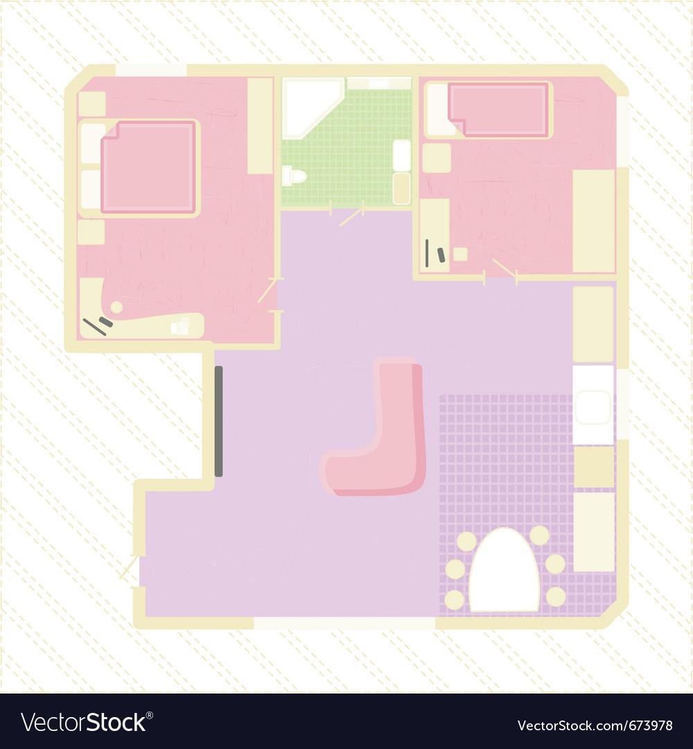 Apartment plan vector image