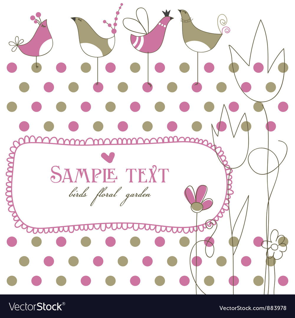 Baby Shower Cute Frame Vector Image