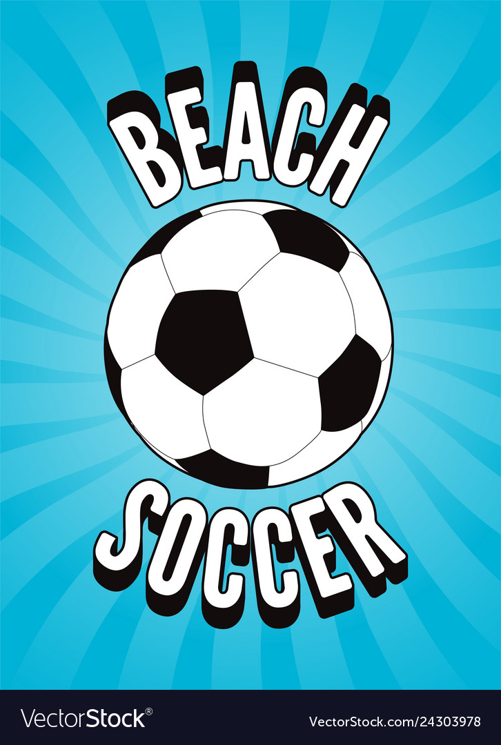 Beach soccer vintage style poster