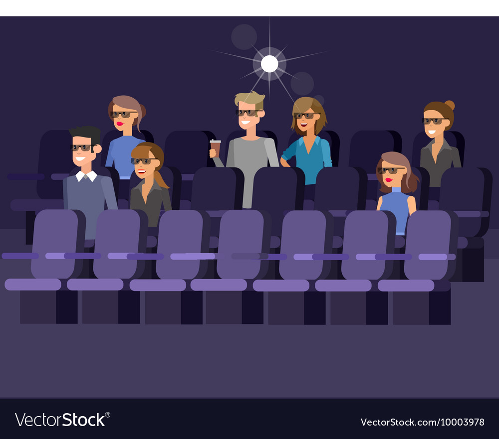 Cinema movie poster template Royalty Free Vector Image