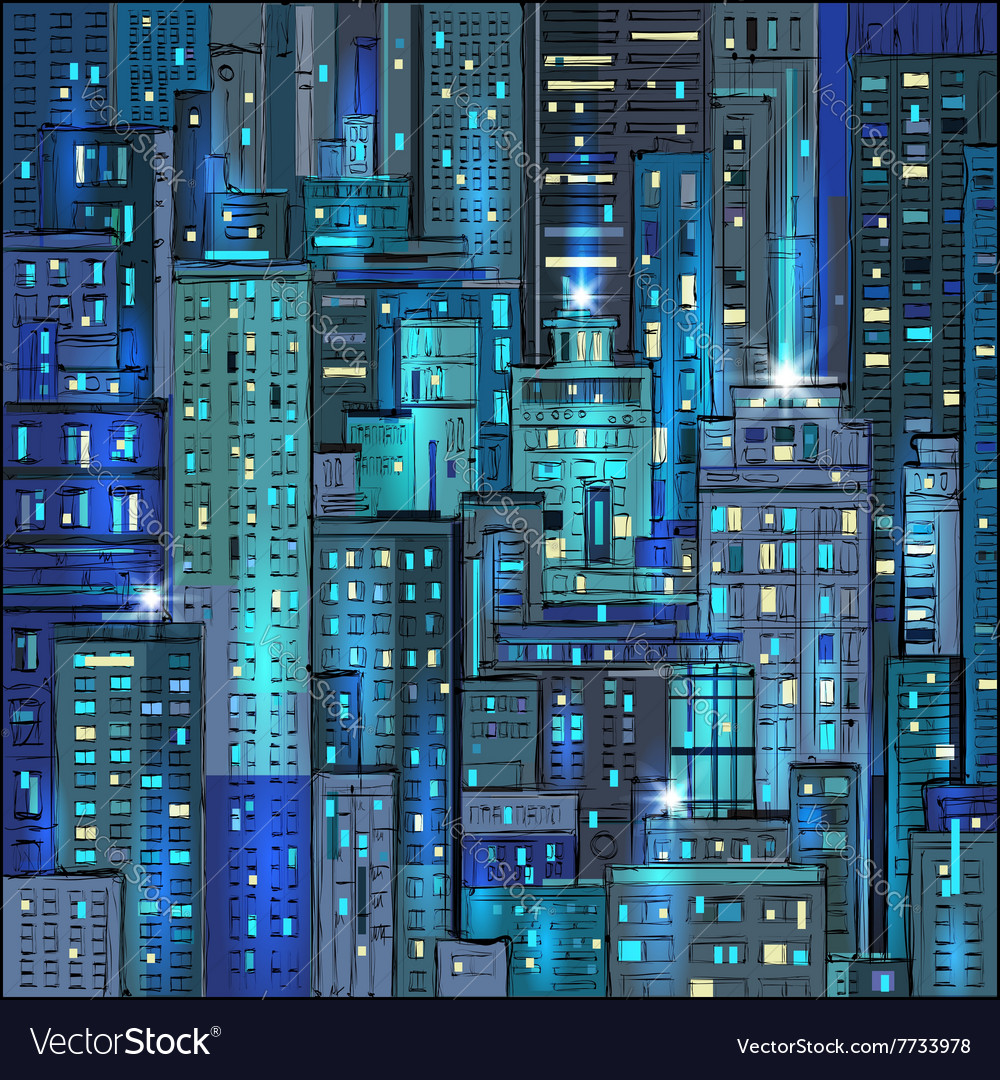 Cityscape at night background