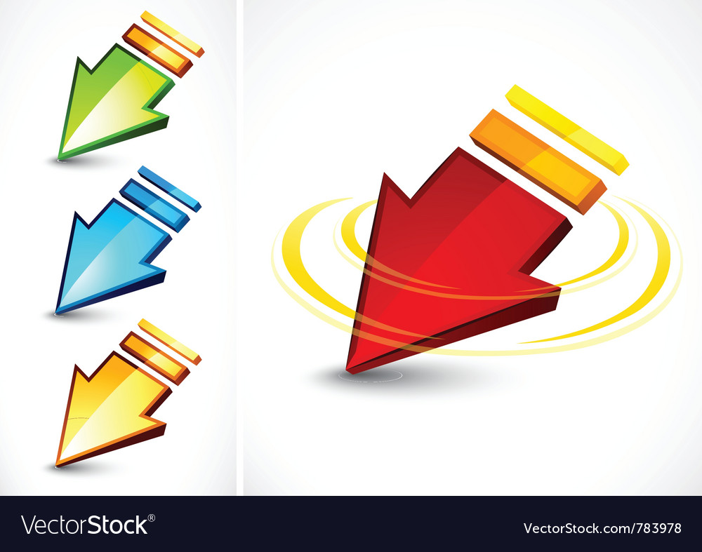 Colorful directional arrows vector image