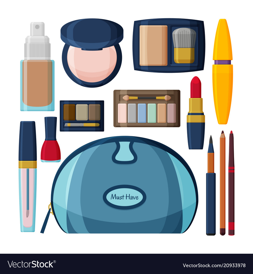 Decorative cosmetics for lips eyes and nails
