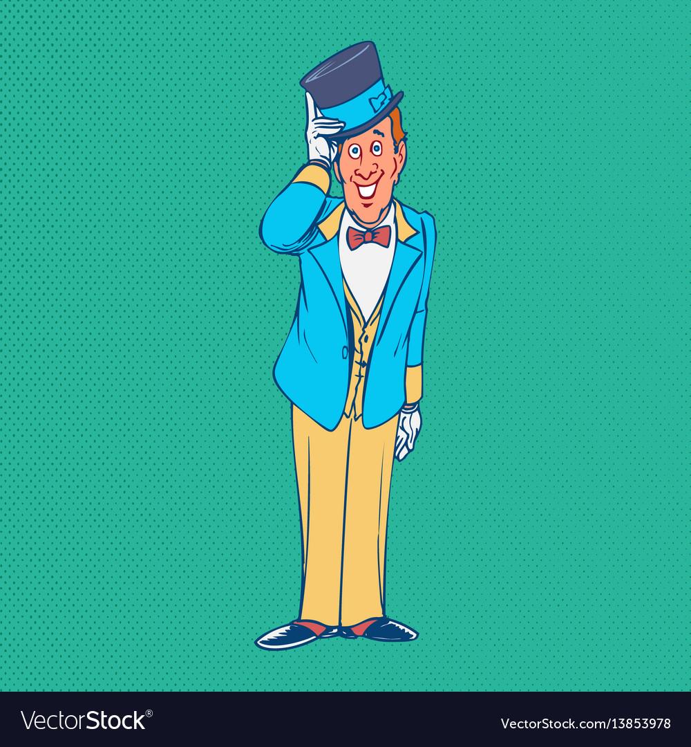 Gentleman funny cartoon character