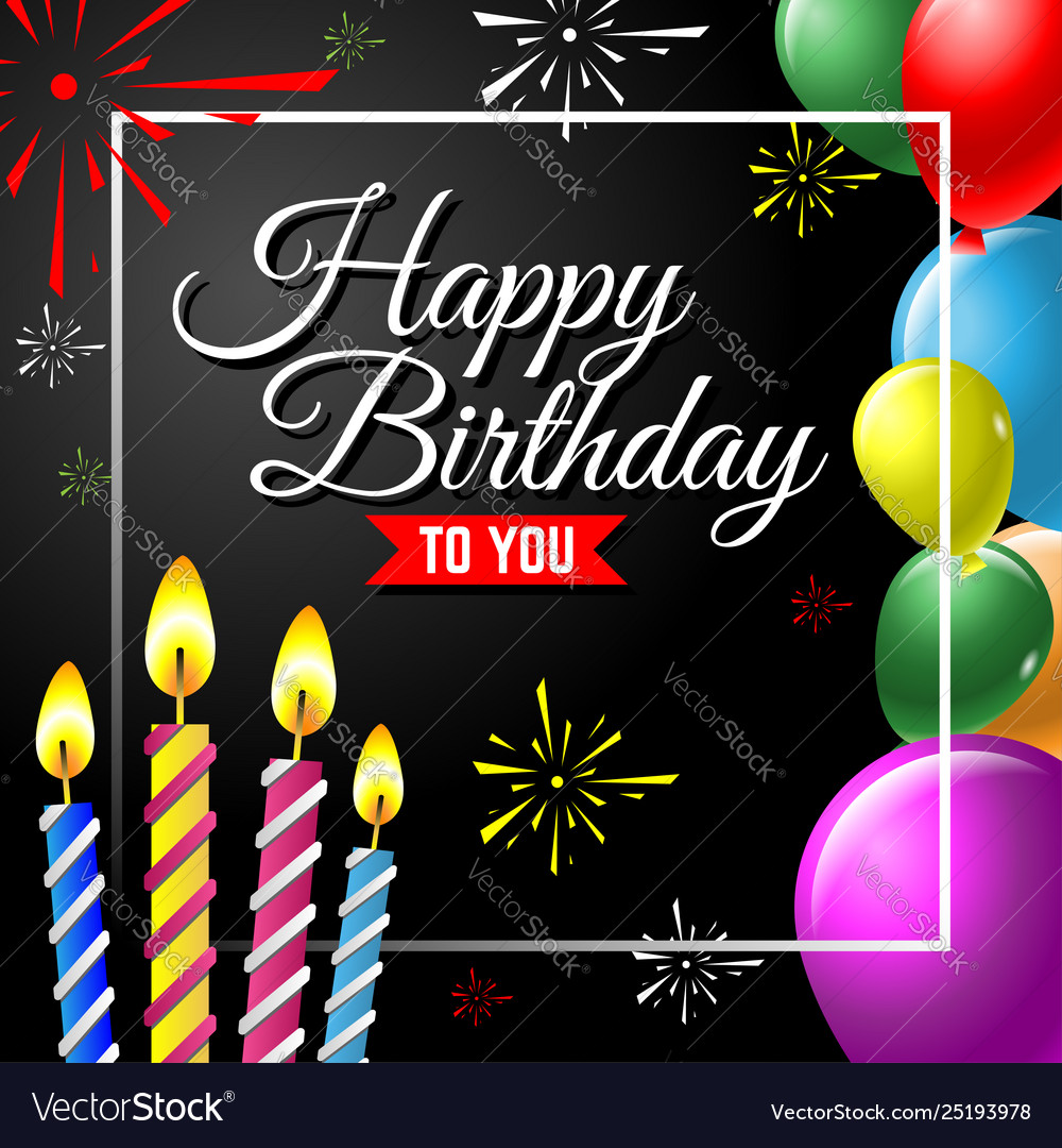 Happy birthday greeting card background with