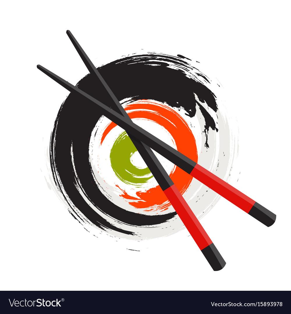 Sushi icon traditional japanese food