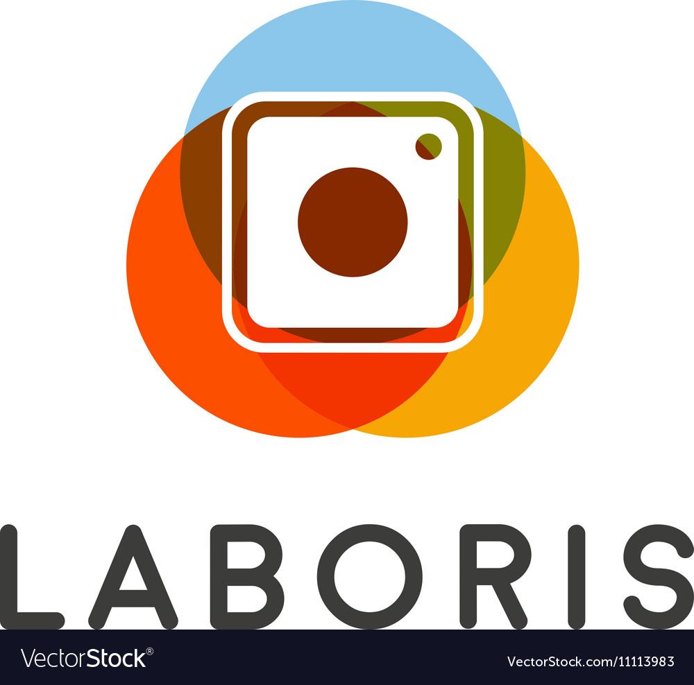 Abstract camera social network logo Photo